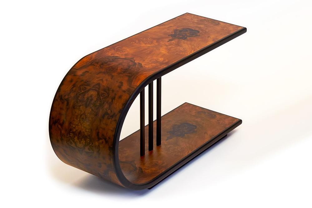 beistelltisch in nussbaum wurzelfurnier schreinerei. Black Bedroom Furniture Sets. Home Design Ideas