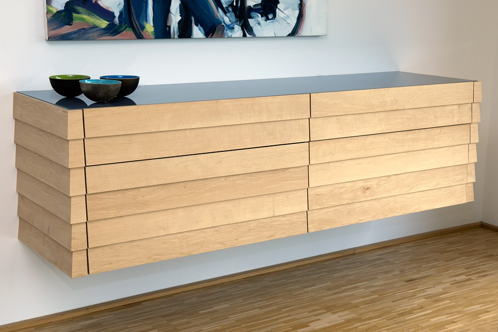 sideboard frei h ngend schreinerei buchal krings. Black Bedroom Furniture Sets. Home Design Ideas